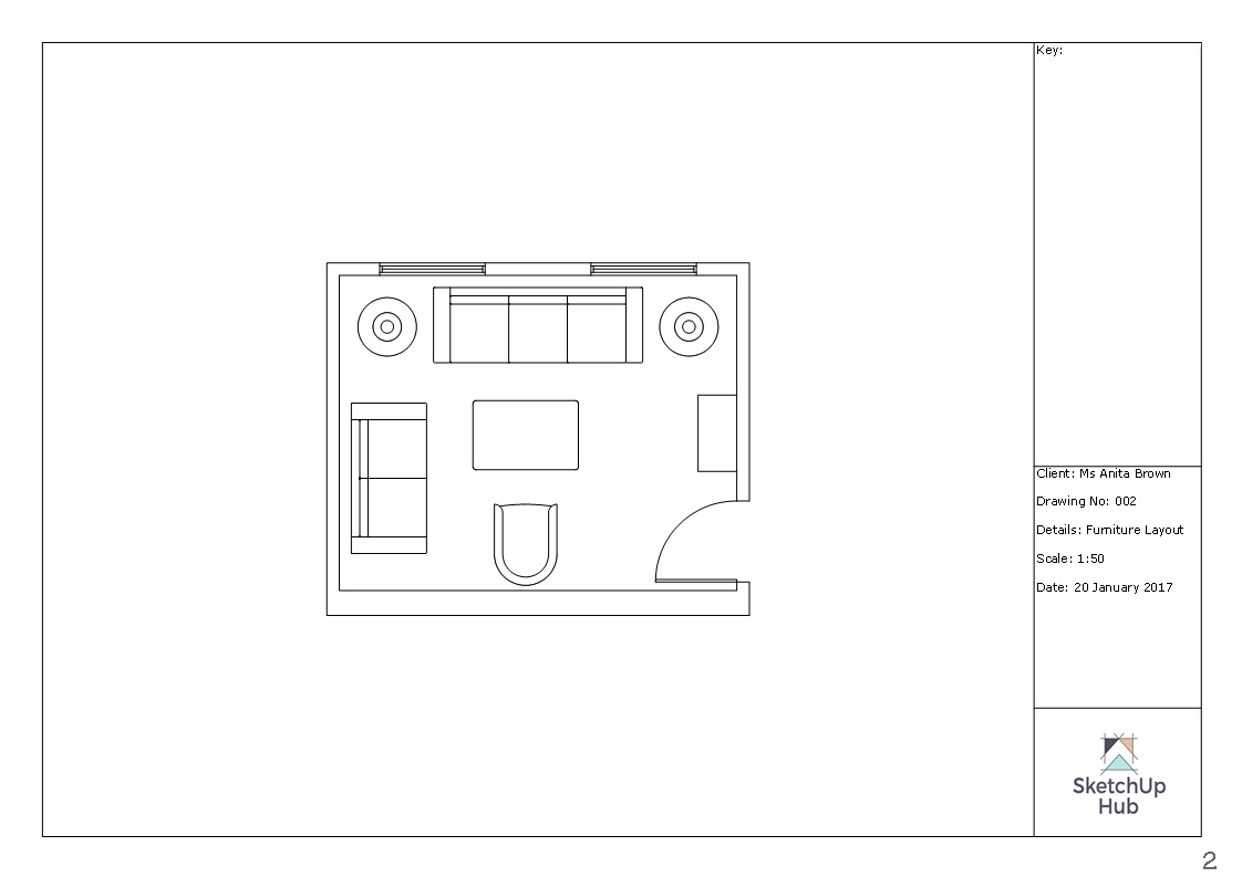 To Scale Furniture Layout