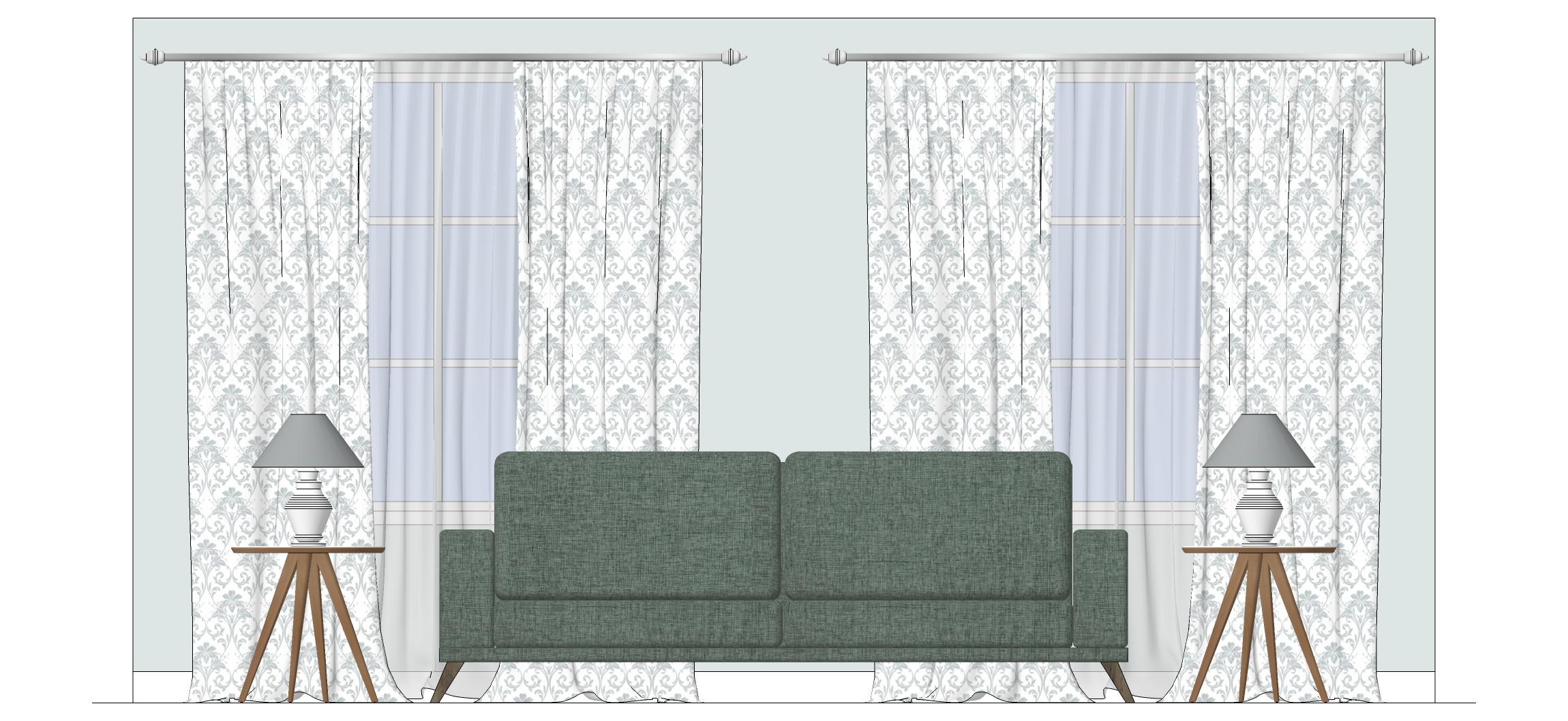 Elevation Plan Sketchup : Rendered sketchup floor plan and elevation before