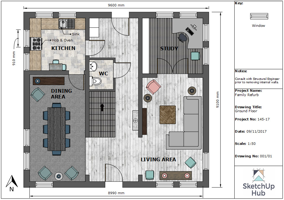 Itu0027s A Highly Accurate And Professional Floor Plan, Which Will  Unquestionably Assist You When Completing Assignment 4 Of Your Interior  Design Institute ...