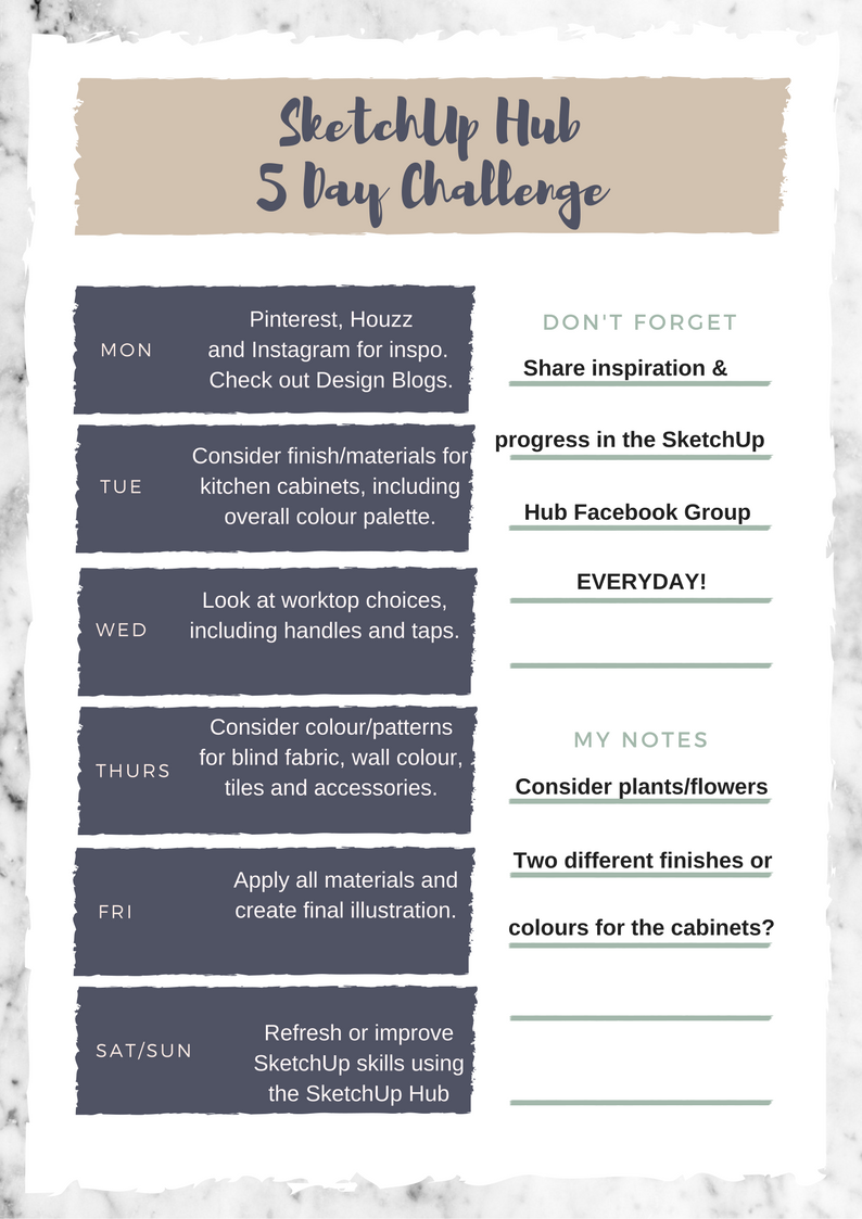 SketchUp 5 Day Challenge – SketchUp Hub